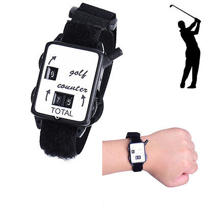 Golf Wrist Score Counter Wristband Keeper Watch Putt Shot Scorer Golf Black
