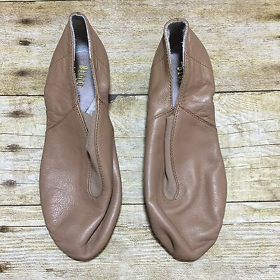 Bloch Size 12 Girls Tan Brown Leather Ballet Dance Shoes Slippers