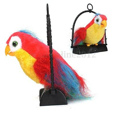 Waving Wings Talking Parrot Imitates & Repeats What You Say Funny Toy For Gift