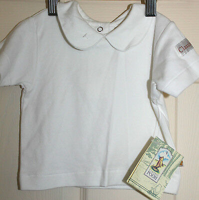 New with Tags Baby   CLASSIC WINNIE THE POOH Short sleeve Cream top size 00