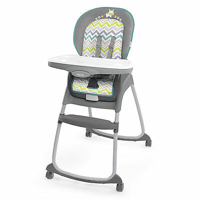 Ingenuity Trio 3-in-1 Ridgedale High Chair, Grey NEW and FASTSHIPPING