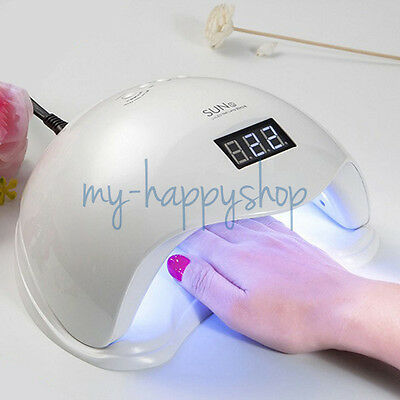 SUN5 48W UV & LED Lamp Nail Dryer Polish Machine for Curing Nail Gel Manicure AU