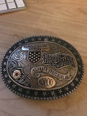 Gist Sterling Silver Ustrc Champion Team Roping Buckle