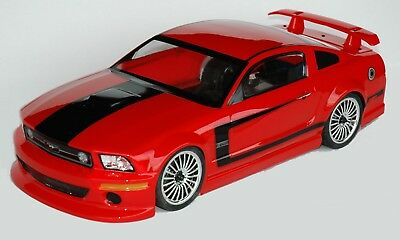 1:10 RC Clear Lexan Body Mustang GTR 200mm Nitro or Electric Colt fit Tamiya etc