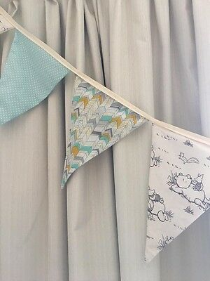 Baby Boy Nursery Bunting - Blue, Winnie The Pooh Brand New 1.4m - Baby Shower