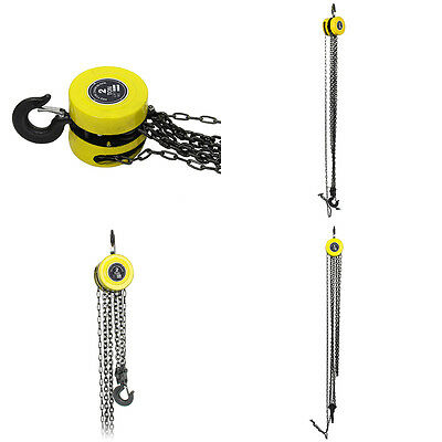 Heavy Duty Chain Hoist Load Lifting Block Tackle Engine Winch 2 Ton Pulley Tool