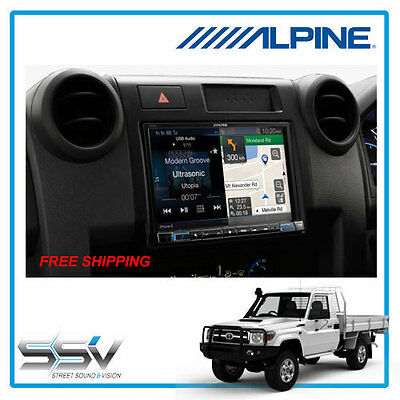 Alpine 8″ GPS Navigation X108AU Car Solution for Toyota 79 Landcruiser Matt Fi