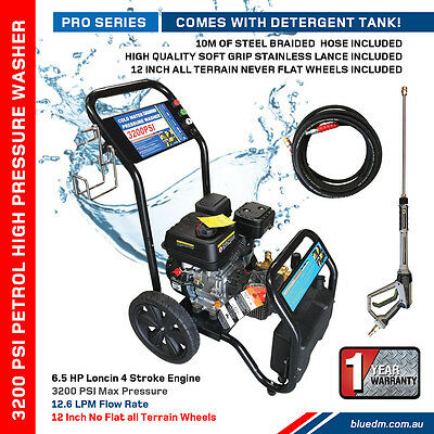 High Pressure / Power Washer Cleaner - Petrol - 3200 Psi - 6.5Hp