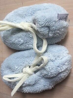 Britt Light Blue Booties Newborn