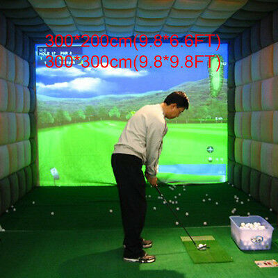 300*200cm C37LJ Golf White Screen Simulator Projector System Hitting Impact