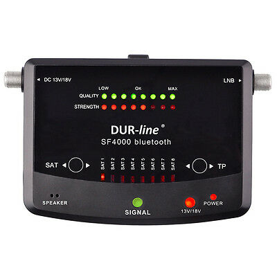 DUR-line SF 4000 BT Digitaler Satfinder mit Bluetooth Android IOS Smartphone App