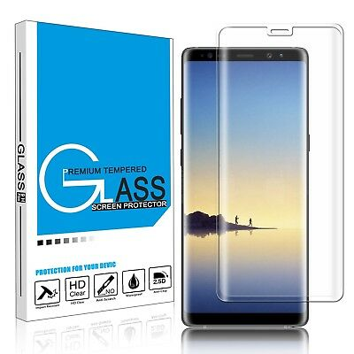 Full Tempered Glass Screen Protector Samsung Galaxy S7 Edge S8 S9+ Note 8 9 10+
