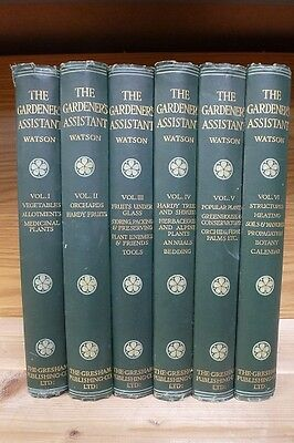 The Gardener's Assistant set of 6 vintage books - William Watson vol. 1,2,3,4,5,