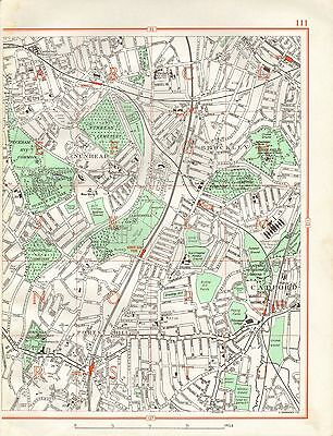 1964  Vintage Street Map - Nunhead, Brockley, Catford, Forest Hill