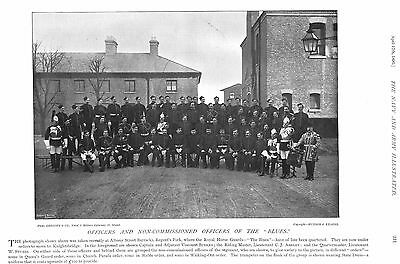 1896 Officers And Non Commissioned Officers Of The Blues Royal Horse Guards