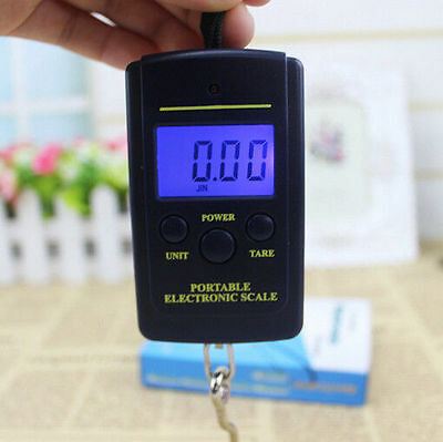 40kg 20g Electronic Hanging Fishing Luggage AC OL Portable Digital Weight Scale