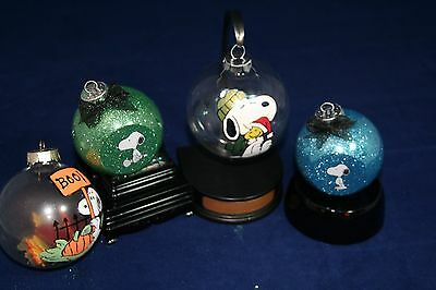 Peanuts Snoopy Hand-Painted Christmas Ornaments set of 4
