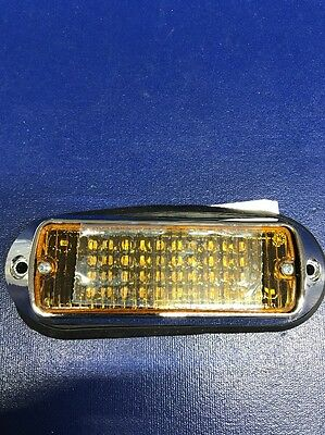NEW Whelen 500LED Flanged Amber Light Head W/Chrome Flanges Multi Flash Pattern