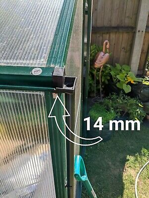 GREENHOUSE RAINWATER GUTTER Water Butt Down Pipe Guttering 2 Kits Shed Fits  14mm