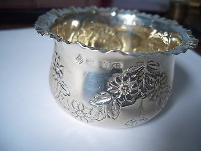 Silver Floral Swag Embossed Bowl  From A Small Silver Collection Find