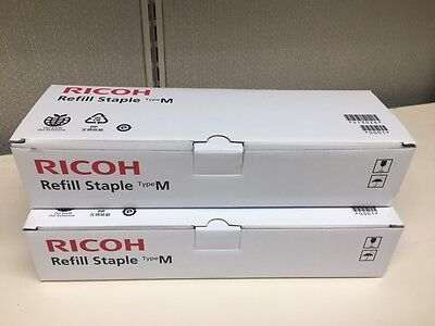 2 boxes of genuine Ricoh Refill Staples Type M EDP code 413026