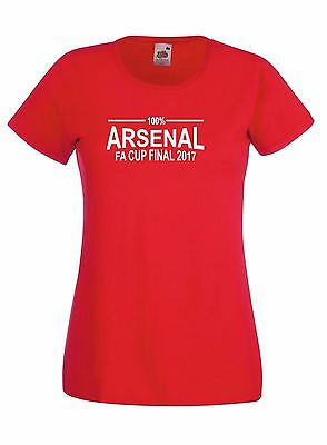 Fa Cup Final 2017 100% Arsenal Fan T-Shirt Womens