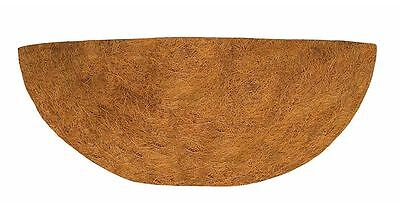 Plant Pot Liner 16 inch Wall Basket Planter Flower Natural CoCo Half Circle NEW