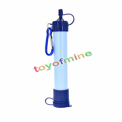 Outdoor Survival PORTABLE Personal WATER FILTER Purification Purifier Straw Gear