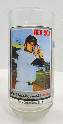 1993 #10 Carl Yastrzemski Topps Mcdonalds All Time Greatest Glass
