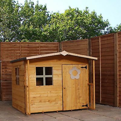 Rose Playhouse New Wooden Cottage Kids House  Sheet Roof Garden Wendy Houses