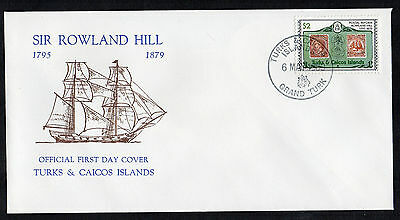 Turks & Caicos Is. - 1979, Rowland Hill Death Centenary, FDC (3rd Issue)