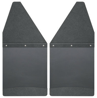 Mud Flap-Kick Back Mud Flaps 12 Wide - Black Top and Black Weight Husky 17101