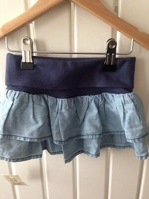 Baby Girl's Clothes 0-3 Months - Brand New With Tags Denim Look Ra Ra Skirt