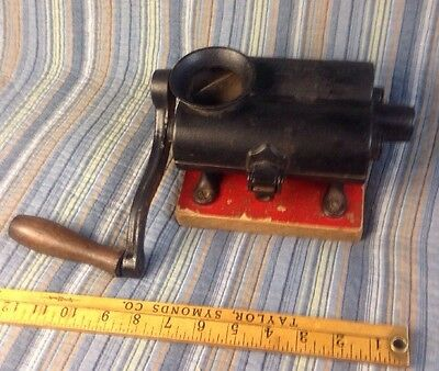 ANTIQUE CAST IRON FOOTED PATENTED MARCH 15 1859 Tobacco Cutter Grinder Herb Vtg