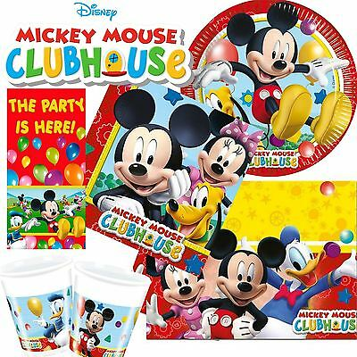 Disney Mickey Mouse Clubhouse Childrens Birthday Party Supplies Tableware Kids
