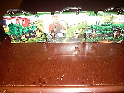 Set of three John Deere Tin Lunch Boxs -