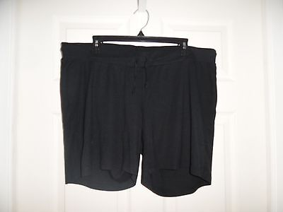 EUC Motherhood Maternity Black Shorts Size XL Summer Cute Short Super Comfort