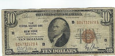 $10 dollars 1929 National Currency  Federal Reserve Bank Of New York