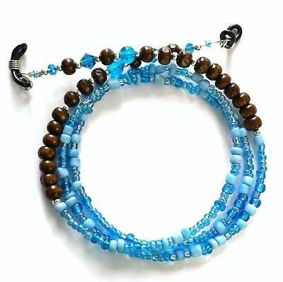 Glasses Chain - Brown Turquoise - Spectacle Cord - Eyeglass Strap