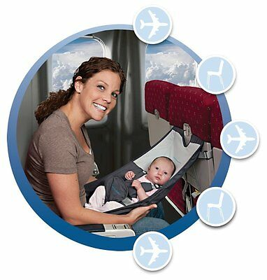 Baby Infant Airplane Seat Flyebaby Comfort System Air Travel W/ Made Easy New Nu