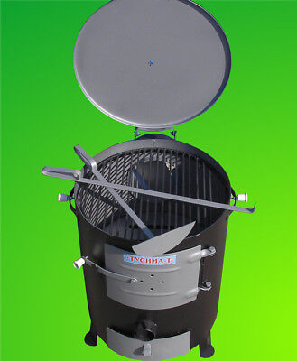 Barbecue Stove Camping Solid Fuel Garage Garden Grill Workshop Wood Burning