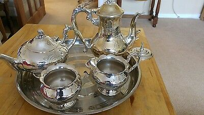 Very nice antique ornate EPNS Tea/Coffee set 4 peices