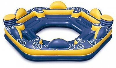 6-Person Inflatable Floating Island Party Lounge River Lake Ocean Raft Float New