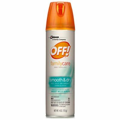 OFF! FamilyCare Insect Repellent - Smooth & Dry 4oz Aerosol Spray Can