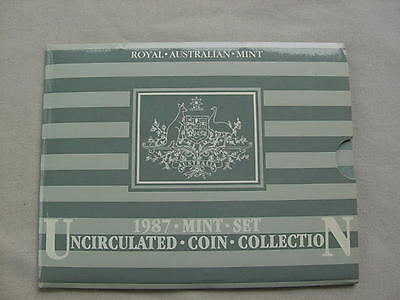 1987 Australia Uncirculated Coin Set as issued by Royal Australian Mint