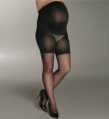 Assets by Sara Blakely 126M Marvelous Mama Perfect Pantyhose Black Size 3 NIP