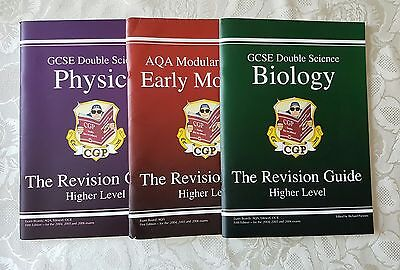 CPG GCSE revision guides x 3. Higher lever physics, biology & early modules