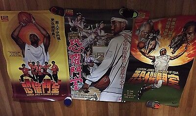 Rare Nike Zoom Lebron James Chamber Fear Posters Banned China Promo LBJ 2004 AZG
