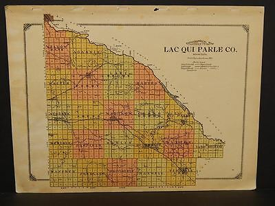 Minnesota Lac Qui Parle County Map 1913  W3#01