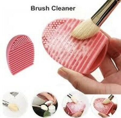 Compact travel Silicone Makeup Brush Cleaner Cosmetic Silicone Scrubber Egg ❤